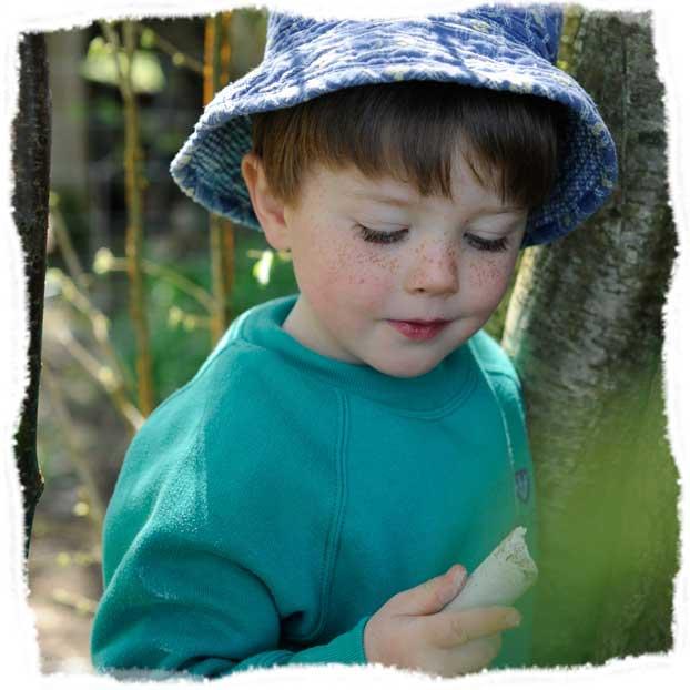 A young Wren's Nursery adventurer