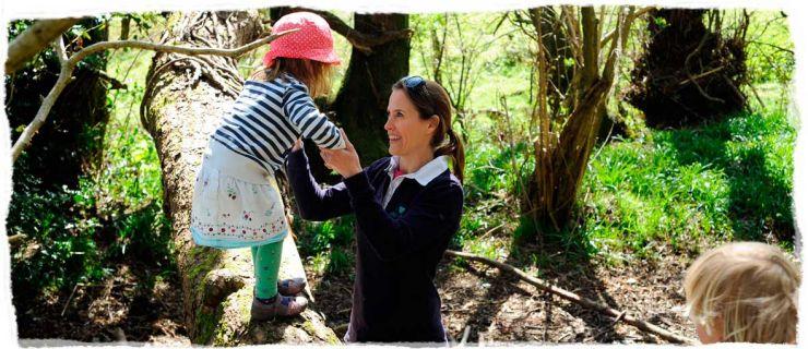A help in hand from a teacher at Wren's Nursery
